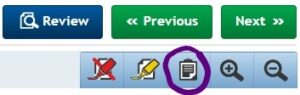 ProProctor Controls with the Notepad icon circled